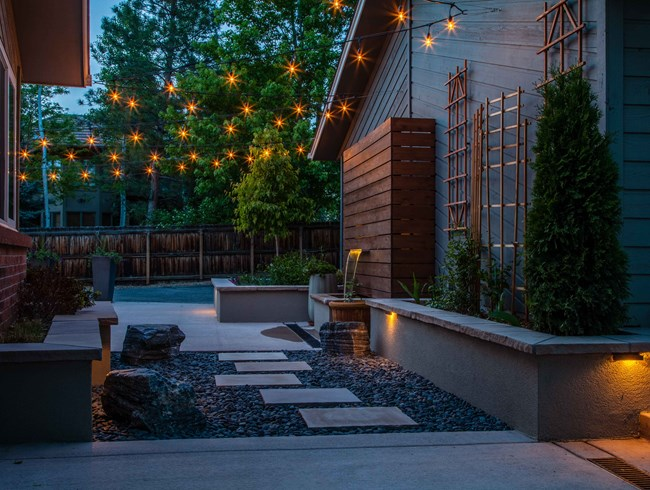 new technologies offer cafe lighting with old style cafe string lights in both modern and informal designs integrated with the overall outdoor lighting